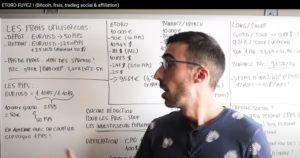 Image de la chaine YouTube Cointips démontrant les frais sur etoro par des calculs inscrits sur un tableau