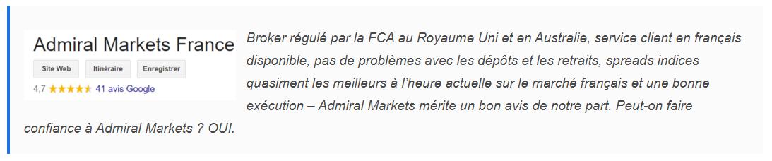 Avis Admiral Markets Début de texte